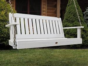 White Outdoor Porch Swing — Home Ideas Collection