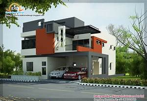 2 beautiful modern contemporary home elevations kerala With images of modern home designs