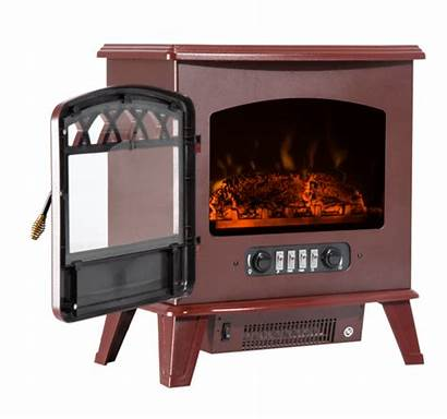 Stove Electric Wood Fireplace Heater Standing Homcom