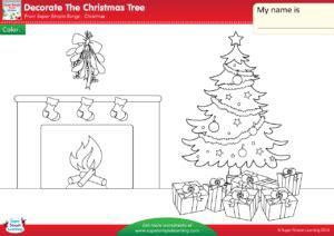 decorate the christmas tree lyrics decorate the tree worksheet color simple