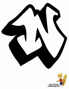 free letter m graffiti coloring pages With large graffiti letters