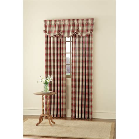 country living casual plaid window panel shop your way