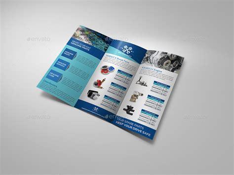 auto parts catalog tri fold brochure template
