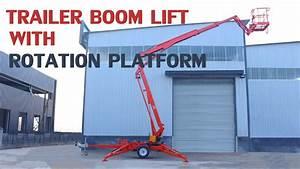 Morn Trailer Boom Lift With Rotation Platform