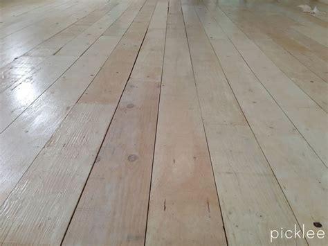 diy farmhouse wide plank floor   plywood