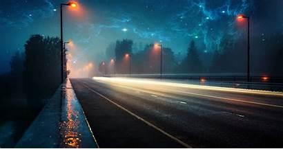 4k Night Aesthetic Wallpapers Desktop Evening Road
