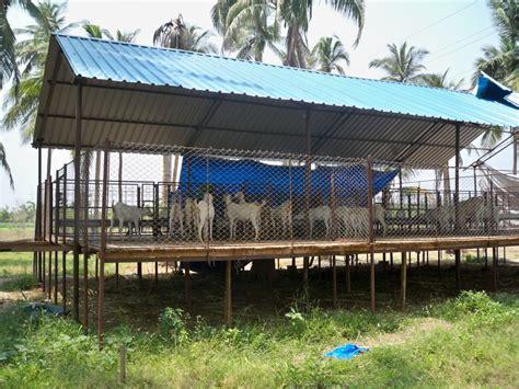 Goat Farming Shed Design by Suresh Devaraj Goat Farm Goat Shed