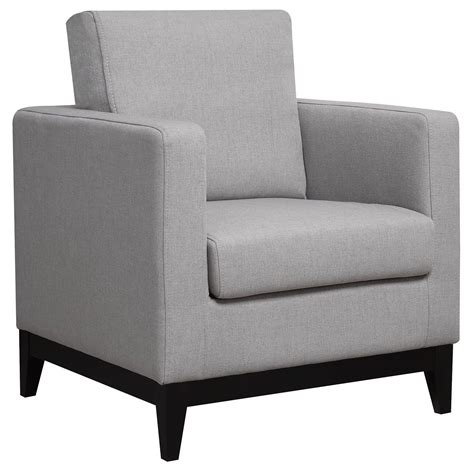 light grey accent chair from coaster 902608 coleman