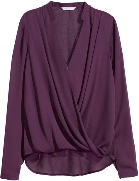 h m draped top this top to pair with trousers beautiful plum color
