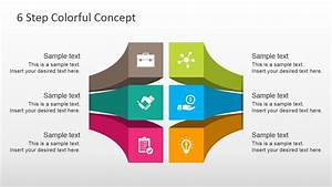 Free 6 Steps Colorful Diagram For Powerpoint