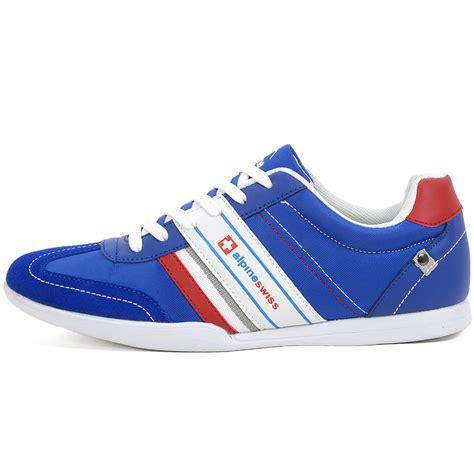 mesh breathable shoes blue alpineswiss ivan mens tennis shoes fashion sneakers retro