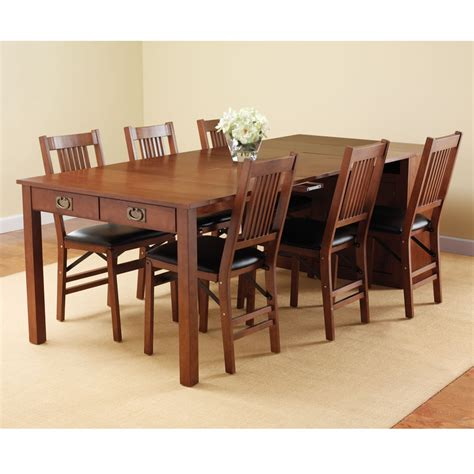 engaging dining room decoration using expandable dining