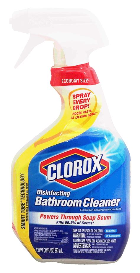 clorox disinfecting bathroom cleaner spray groceries express product infomation for clorox