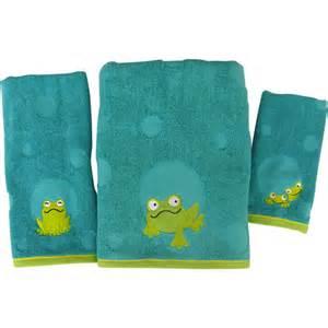 peeking frogs 3pc towel set walmart com