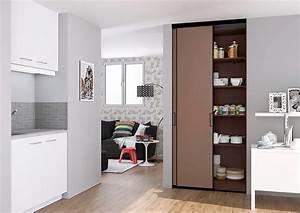 Rangement Placard Cuisine : portes de placard coulissantes de cuisine sur mesure ~ Teatrodelosmanantiales.com Idées de Décoration