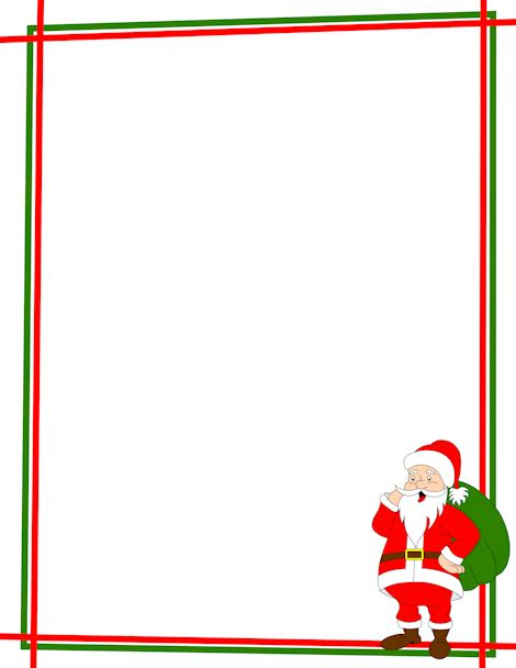 printable dear santa letter backgrounds borders cards pin by muse printables on page borders and border clip 32508
