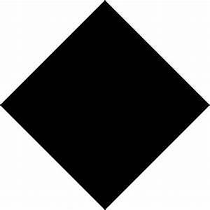 Black diamond shape clip art - Clipartix