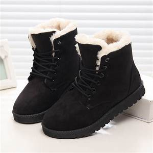 Classic Women Winter Boots Suede Ankle Snow Boots Female ...