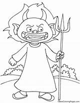 Devil Cartoon Coloring Pages sketch template