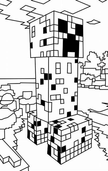 Minecraft Creeper Ausmalbilder Coloring Pages Wither Fun