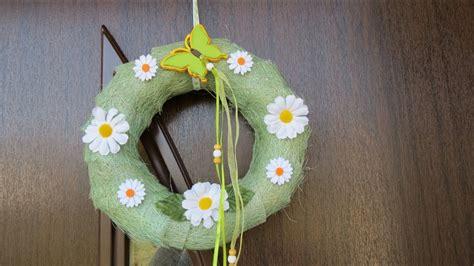 fruehling sommer dekoration tuerkranz selber basteln