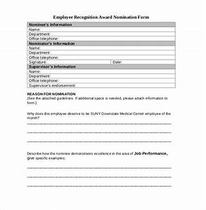 employee recognition awards template 9 free word pdf With employee of the month nomination form template