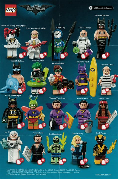 lego batman  series  minifigures complete