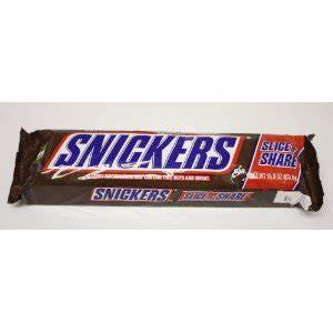 Giant 1 Pound Snickers Bar (16oz) - Slice from Amazon | Epic