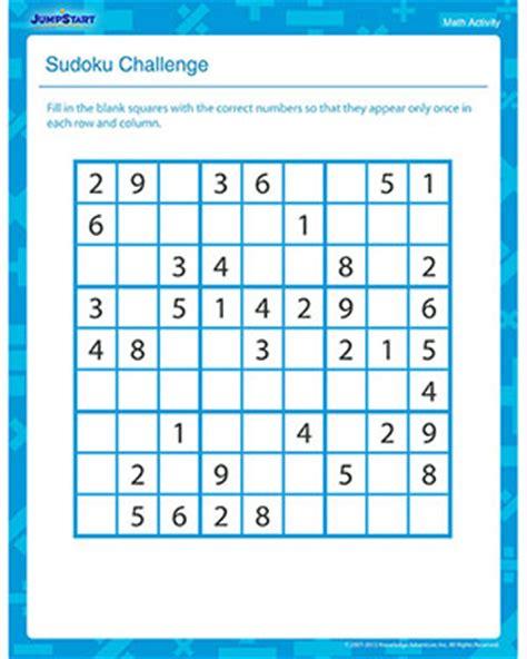 sudoku challenge fun math activity   grade jumpstart