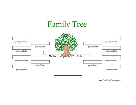 Family Will Template by Family Tree Template Family Tree Template 3 Generations