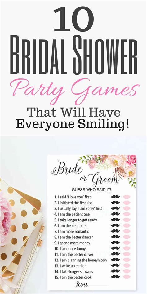 To Play At A Bridal Shower - 11 bridal shower that everyone can play