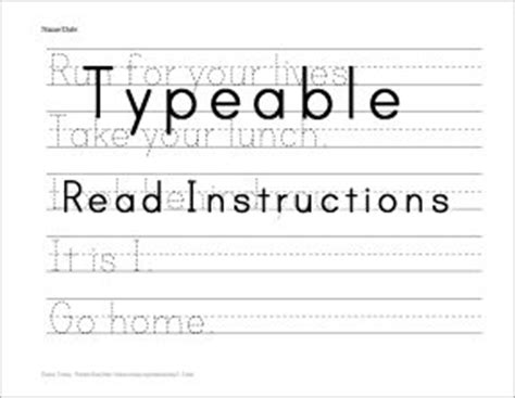 16 best images of create blank handwriting worksheets