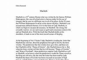Macbeth - plot ... Macbeth Summary