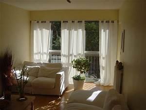 Rideau Baie Vitree : assez rideaux pour grandes baies vitr es oq81 montrealeast ~ Premium-room.com Idées de Décoration
