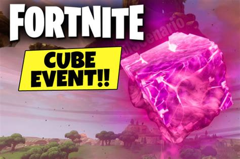 fortnite cube event countdown  time  epic cube