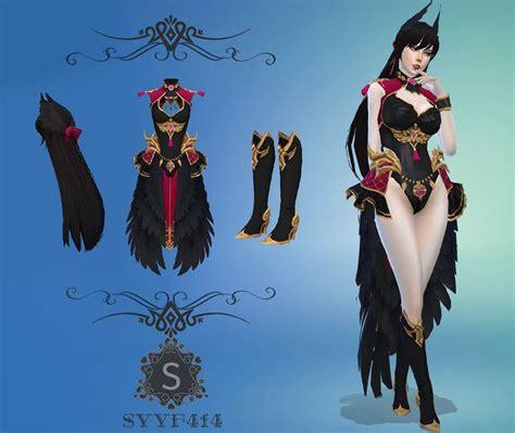 Sims 4 Cc Feather Suit Simfileshare Sims 4 Anime