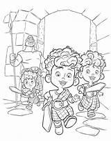 Coloring Brave Merida Pages Disney Colouring Hamish Hubert Harris Brothers Triplets Triplet Printable Three Pixar sketch template