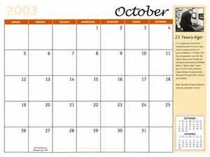 October 2003 Calendar