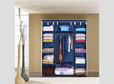 blue iKayaa Portable Closet Fabric Clothing Storage