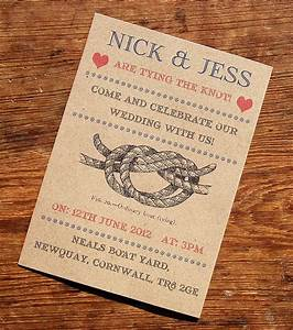 vintage seaside wedding stationery range by a bird a bee With wedding invitation wording tie the knot