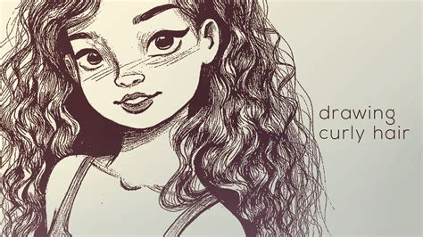 Girl Hair Drawing How To Draw Girls Wavy Hair Drawing Curly Hair Youtube