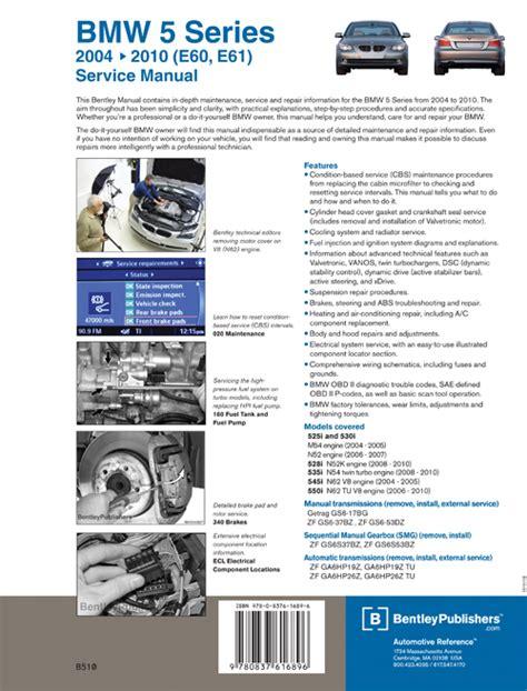 automotive service manuals 1993 bmw 5 series free book repair manuals back cover bmw repair manual bmw 5 series e60 e61 2004 2010 bentley publishers repair