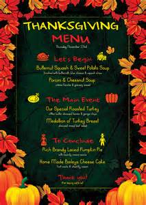 thanksgiving menu template psd design for photoshop v 1