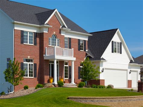 New Brick Home Designs, Red Brick Home With Siding