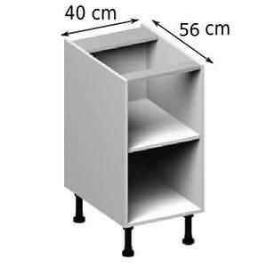 meuble caisson bas largeur 40 vial menuiserie cuisine With meuble 40 cm largeur