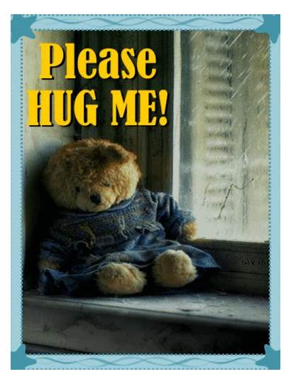 Hug Bear Teddy Needs Cards Greeting