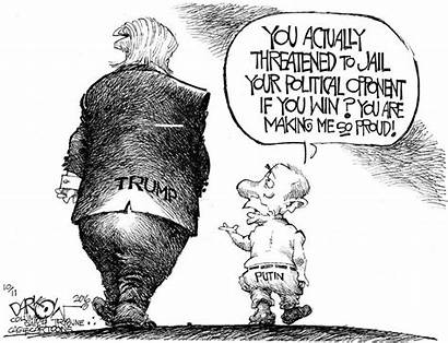 Trump Cartoons Political Donald Putin Cartoon Funny