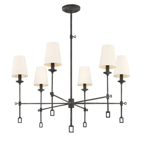 Black White Chandelier by Black Chandelier With White Fabric Shades R S Robertson