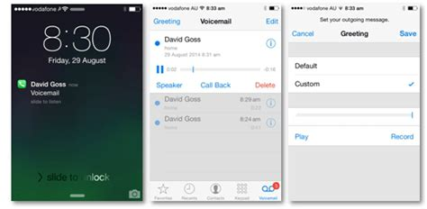 how to voicemail from iphone vodafone support how to activate visual voicemail