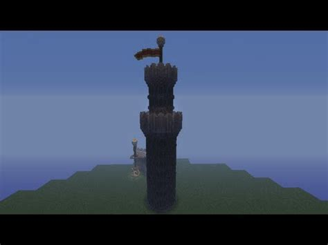 minecraft large castle tower tutorial youtube